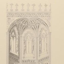 Copia de la traza original del ábside y crucero de la Iglesia de San Juan de los Reyes (Toledo)