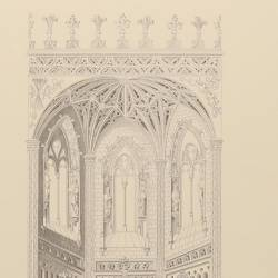Copy of the original layout of the apse and transept of the church of San Juan de los Reyes (Toledo)