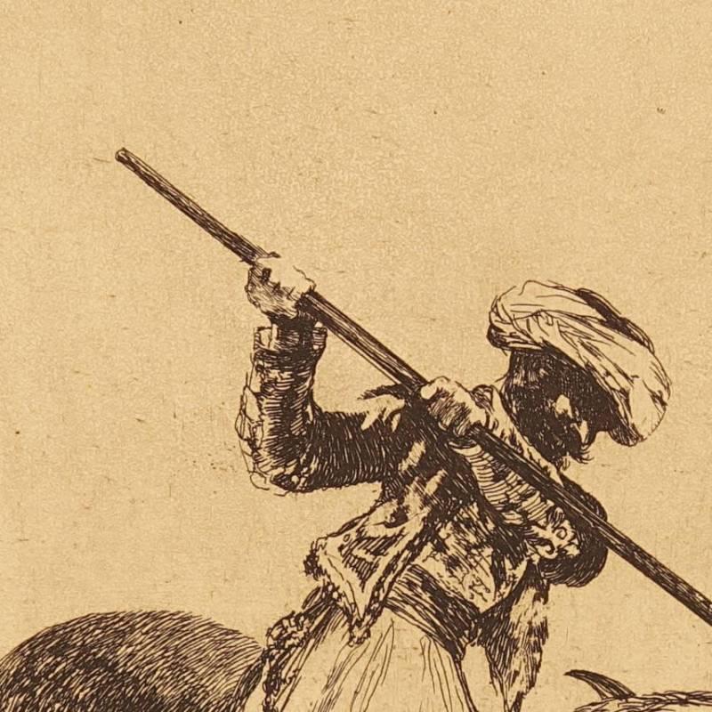 El esforzado Rendón picando un toro, de cuya suerte murió en...