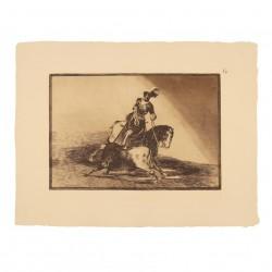 Carlos V lanceando un toro en la plaza de Valladolid (Tauromaquia Nº10)