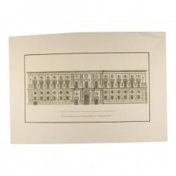 Fachada principal, que mira a poniente, del palacio de Carlos V