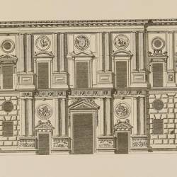 Main facade, facing West, of the palace of Charles V