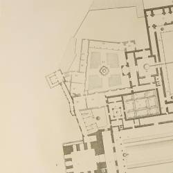 Map of the arab royal house that shows its main floor and palace of Charles V
