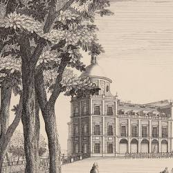 View of the main facade of Aranjuez's Palace, 1757