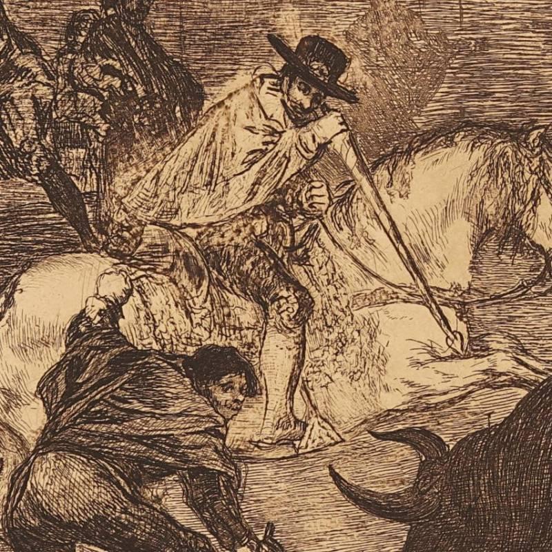 Carlos V lanceando un toro en la plaza de Valladolid (Tauromaq