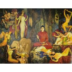 Postal Las tentaciones de Buda