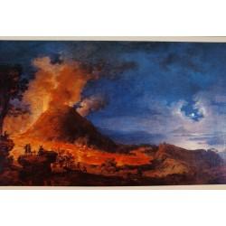 Postal Vista de la erupción del Vesubio