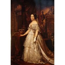 Postal Retrato de Isabel II