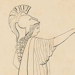 Pandora dotada por Mercurio y Minerva (Lámina 3)